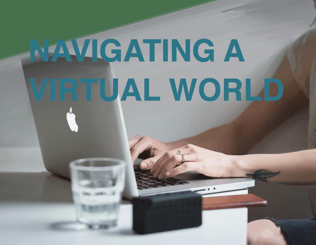 navigating a virtual world logo for senior marketing specialists medicare FMO